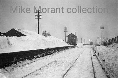 The location of this shot isn't yet known but it is one of four taken by a railway photographer who is known to have lived in or close to Cambridge when this was taken immediately following the first snow of that awful 1947 winter. Two of the four images have a distant view of a locomotive and it appears to be a J17 0-6-0. [Mike Morant collection]