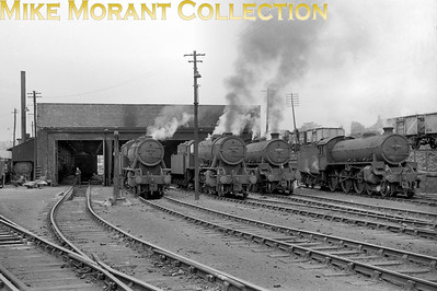 An evocative panoramic shot taken at Dunfermline shed featuring a pair of WD 2-8-0's and a pair of Thompson B1 4-6-0's. The leftmost WD's numberisn't legible but the other engines from left to right are 90017, 61407 and 61101. The only date indicator is that 90017 was withdrawn at Dunfermline mpd in September 1963. [Mike Morant collection]