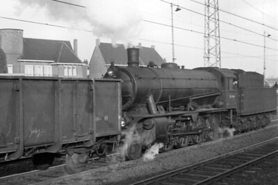 An unidentified Dutch railways, Austerity 2-8-0 shunting at Utrecht in 1956 [Mike Morant collection]