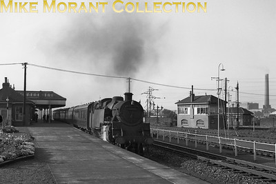 St. Margaret's allocated BR Standard 4MT 2-6-4T no. 80114 at Portobello station on 1/9/64. The signal box on the right is for Leith South Jct. [Mike Morant collection]
