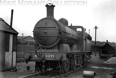 LNER, J3 class 0-6-0 no. 3375 is shown here at the unusual location of Stafford (see below) on April 30th, 1933. 3375 had entered GNR service as an Ivatt designed J4 class loco in September 1899 but was rebuilt under Gresley to conform to his J3 standard in February 1916. It was quite a long lived loco and would continue working into the BR era being withdrawn as no. 64137 at Boston mpd in February 1951. Stafford may seem an unusual location for a GNR loco but it was the terminus of a long straggling cross-country route from Nottingham London Road via Derby Friargate and (thanks to running powers over the NSR) Uttoxeter. Further running powers allowed GNR passenger trains to access Stafford LNW station. The GNR had its own goods depot in the town, though. [H. C. Casserley / Mike Morant collection]