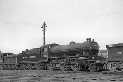 Peppercorn K1 class 2-6-0 no. 62005 at Glasgow's Eastfield shed on 19/6/49.. The loco was brand new out of the nearby NBL works and has no shed plate affixed but it was officially allocated to Darlington mpd when this shot was taken. 62005 lasted quite well compared with its classmates and would be withdrawn in December 1967 whilst allocated to Holbeck mpd. [H. C. Casserley / Mike Morant collection]