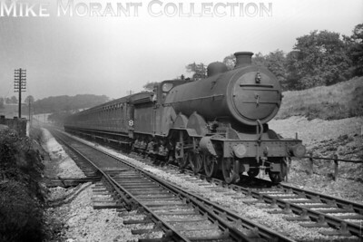 Former GNR, Ivatt C1 class atlantic no. 4403 in charge of an up semi-fast service is depicted here about to enter Hadley Wood north tunnel on 28/9/46. No. 4403 would be renumbered to 2833 in the following October but would soon be withdrawn at New England shed in July 1947. [H. C. Casserley / Mike Morant collection]