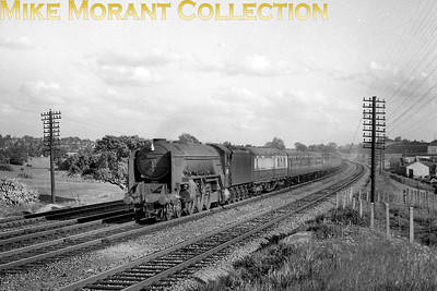 Thompson A2/3 pacific no. 60513 Dante in charge of a Down express near Potters Bar. [Alf Gander / Mike Morant collection]