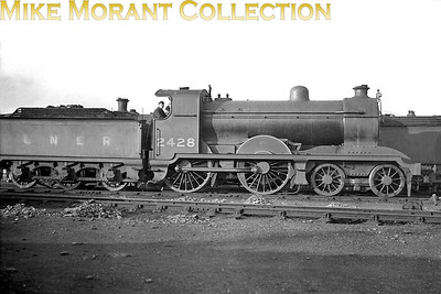 Former Hull & Barnsley Railway 4-4-0 no. 2428  - its final LNER number -    s seen here at Hull, Botanic Gardens mpd on 21/6/1931. 2428 was a Matthew Stirling design dating from 1910 and built by Kitson. The class was originally designated as 'J' but later as 'D24' and all five of the class were withdrawn in the period 1934 - 1936. [Mike Morant collection]
