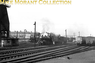General view across the shed yard at 50A York mpd with thompson B1 no. 61157, a Docaster allocated engine, holding centre stage. [Mike Morant collection]