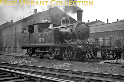 Former NER T. W. Worsdell 'A' class 2-4-2T no. 1171, depicted here at Gateshead shed on 4/6/1932, entered service in December 1889, was reclassified as 'F8' by the LNER and withdrawn in February 1934. [Mike Morant collection]