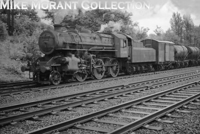 Ivatt 'Flying Pig' 4MT mogul in charge of a Down freight train near Mill Hill on 8/6/57. [Mike Morant collection]