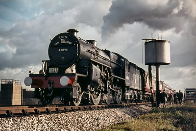 RCTS: East Midlander No. 6 Rail Tour 13/10/63 Hughes 'Crab' 2-6-0 no. 42896 at Lichfield Trent Valley (High Level) where the train picked up passengers and then set back before using the spur to the WCML.. [Mike Morant collection]