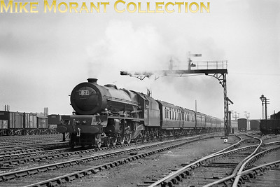 LMSR Stanier Princess Royal pacific no. 6205 Princess Victoria at Rugby on August 1st, 1937. [Mike Morant collection]