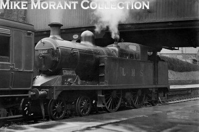North Staffordshire Railway 'K' class 4-4-2T no. 2108 at Leek station on 25/4/1933. This engine was an indigenous product built under the stewardship of Locomotive Supt. JH Adams and was built at the NSR's Stoke Works entering service as its no. 8 in November 1911. Absorption into the LMS empire saw it classified as 3P and numbered 2108 but the LMS's desire for standardisation saw the withdrawal of this fine looking machine in December 1933, the month after this shot was taken. [H. C. Casserley / Mike Morant collection]