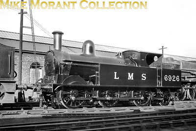 "Ex-works LMSR, Webb designed 0-6-2T 18"" Passenger Tank no. 6926 at Crewe on 25/9/38. [Mike Morant collection]"