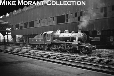 Brand new, LMS liveried Ivatt 2MT 2-6-0 no. 6419 poses at Manchester (Victoria) station on 24/4/47. 6419 was a Newton Heath engine from new. [Mike Morant collection]
