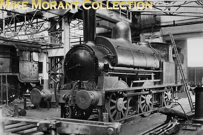 LNWR Ramsbotton 0-6-0ST 'Special Tank' no. 6 undergoing overhaul inside Crewe Works on 23/6/1946. No 6 was built in 10/1875 as LNWR 186, works 1944, 8/1892 entered the duplicate list as 3155. In  5/1901 became Wolverton Carriage Works shunter CD6  and was withdrawn 5/1959. [Mike Morant collection]