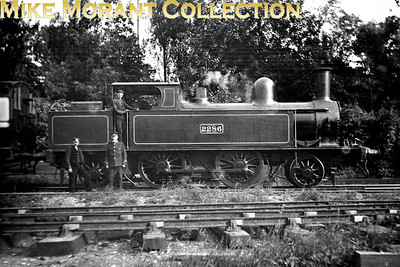 "LNWR Webb 4' 6"" 2-4-2T no. 2286 in Fairfield yard just to the south of East Croydon station c. 1910 whilst operating the timetabled service to Willesden Junction of which there were five round trips per day. No. 2286 was built at Crewe in 1897 with works no. 3740. Withdrawal came for no. 2286 in December 1912. [Mike Morant collection]"