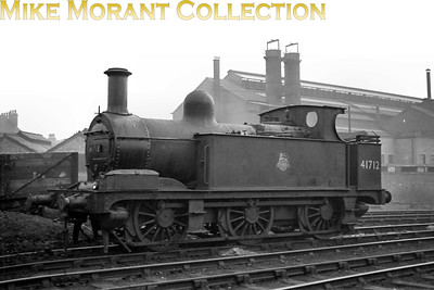Former Midland Railway Johnson 1F 0-6-0T no. 41712 of 1882 vintage. No date or location stated. [Mike Morant collection]