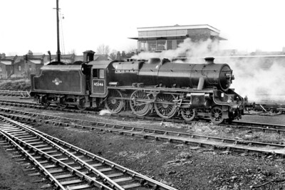 Stanier 'Black 5' 4-6-0 no. 45346 at Hither Green mpd. This is an undated view but was probably taken whilst 45346 was allocated to Cricklewood during the period March '63 thru' May '64. [Mike Morant collection]