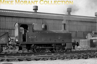 Former Midland Railway Deeley 0F 0-4-0T no. 41537 taken on 6/5/60 at Gloucester (Sudbrook). 41537 was a Gloucester (Barnwood) engine and would be withdrawn in October 1963. [Mike Morant collection]