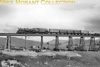 New Zealand Government Railways Ja class 4-8-2 no. 1286 at Ormondville on 13/11/57. [Derek Cross / Mike Morant collection}