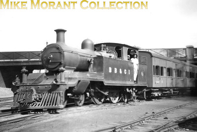 Pre-partition Indian steam locomotive. Bombay Baroda & Central India Railway 'H' class metre gauge 4-4-4T no. 296. No. 296 had been built by the BB&CIR's own Ajmer workshops in 1917. [Mike Morant collection]