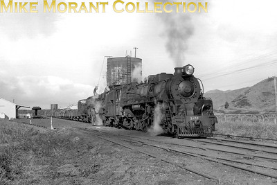 New Zealand Government Railways Ja class 4-8-2 no. 1218 at Kopuawhara with train 966  on 26/7/60. Bob Hepburn / Mike Morant collection}
