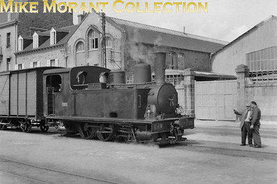 French narrow gauge Cdf des Côtes-du-Nord, Corpet Louvet built 0-6-0T no. 39 at Paimpol in 1956 which was the year that this delightful system closed. This was an RCTS visit but does anyone know the exact date(s)? [Mike Morant collection]