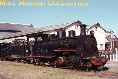Angola, Benguela Railway class '5' 0-6-2T+T no. 12 at Nova Lisboa in April 1970. [Mike Morant collection]
