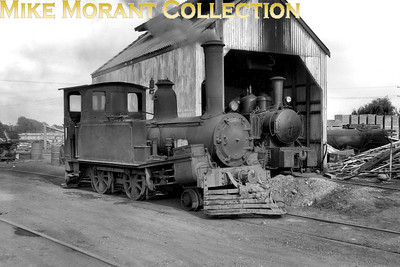 The loco in the foreground is believed to be Napier Harbour Board 2-4-0T no. D.576  . Ex-NZGR no. 576 was a Neilson product with works no. 2563 built in 1880 and was sold to the NHB in 1923 where it was used until 1960 and is now  on display at Helensville Railway Station.  Note the Fowler 0-4-0T in the background which, together with a sister engine, operated the 2.4 km line from Ahuriri to Breakwater. Bob Hepburn / Mike Morant collection}