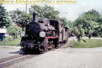 PKPPolskie Koleje Państwowe-Polish State Railways steam locomtotive. 750 mm narrow gauge class Px48 0-8-0 no. 1776 at Ciechanów on 30/5/73. [Mike Morant collection]