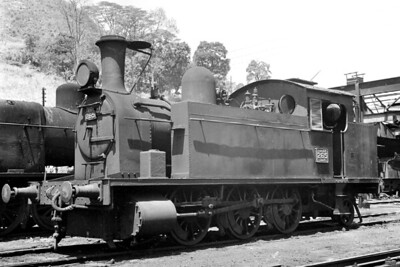 Ceylon Government Railways E1 class 0-6-2T no. 265, depicted here on 17/2/76, was built by Robert Stephenson & Co. in 1928 but the location of this shot isn't recorded. [Mike Morant collection]
