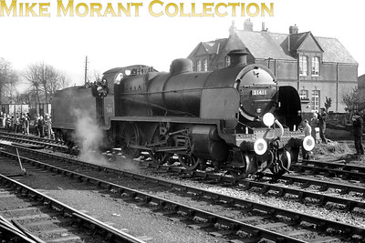 SCTS:: The Southdown Venturer 20/2/66 Maunsell 'N' class 2-6-0 no. 31411 at the long closed Gosport station. [Mike Morant]