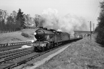RCTS Sussex Coast Limited 13/4/58 Former LBSCR Marsh atlantic No. 32424 Beachy Head at Balcombe Tunnel Junction whilst performing the last rites for British atlantic locomotives. [Mike Morant collection]