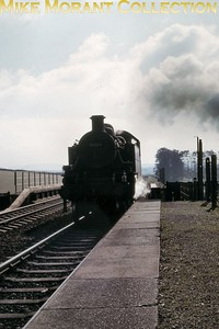 Ivatt 'Mickey Mouse' 2-6-2T no. 41284 passes Wishing Well Halt having just dropped away from banking duties up to Bincombe on 11/10/65. 41284 was a Weymouth based engine at the time but would move to Nine Elms in October 1966 and would remain there until withdrawal in March 1967. [Mike Morant collection]