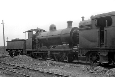 LBSCR, Billinton C2X 0-6-0 no. 524 at the unlikely location of the GWR's Old Oak Common depot on 24/4/1920. [H. C. Casserley / Mike Morant collection]