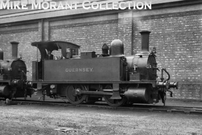 Southern Railway, Adams B4 class 0-4-0T no. E176 Guernsey at Southampton Docks on 10/11/1928. [H. C. Casserley / Mike Morant collection]
