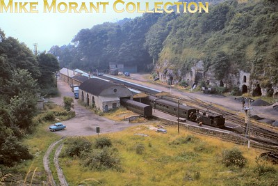 An Isle of Wight image that I've long wanted in my collection is a panoramic view looking down on Ventnor station in colour and it's come to pass. This is a Kodachrome slide dated September 1964 and the loco being readied for departure to Ryde is Adams O2 no. 22 Brading. [Mike Morant collection]