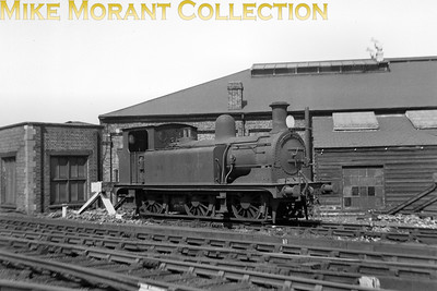 Built at The Longhedge LCDR locomotive works to a Kirtley design in 1893, 1602 was one of only three out of 10 classmates that survived into BR ownership although the '3' prefix was never applied to the number. Allocated to Reading in January 1950, withdrawal came in the following July and scrapping was at Brighton works where this shot was taken in that same month. [Mike Morant collection]