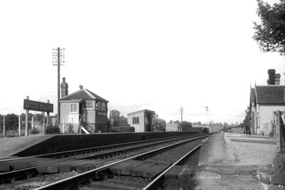 Sutton Bingham station station was sited not far to the west of Yeovil Junction on the LSWR main line to Exeter. Although it never saw much use it managed to survive for just over a hundred years being opened in 1860 and closing in 1962 although the signal box remained in use until May 1965. We are looking here at the down platform and towards Crewkerne. [H. C. Casserley / Mike Morant collection]