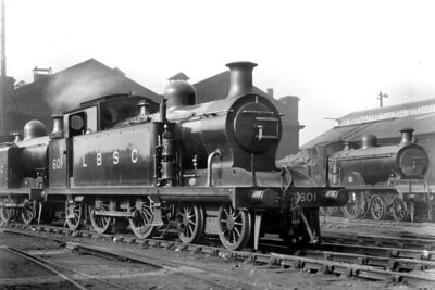 LBSCR, Marsh designed and less than successful I1 class 4-4-2T no. 601 at its home depot, New Cross, on 9/4/1921. The Southern Railway, under the auspicess of Maunsell, applied siuperheating to this class which turned them into capable locos. This modification was applied to 601 in February 1928 which extended its working life until withdrawal at Three Bridges mpd in January 1948. [H. C. Casserley / Mike Morant collection]