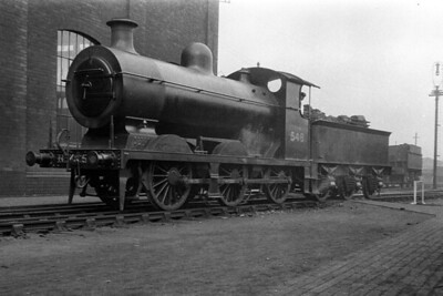 LBSCR, Billinton C2X 0-6-0 no. 546 at the unlikely location of the GWR's Old Oak Common depot on 24/4/1920. [H. C. Casserley / Mike Morant collection]