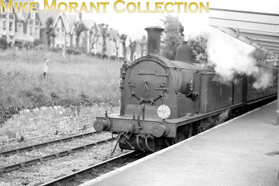 An undtaed view of Drummond M7 0-4-4T no. 30057 at Swanage station. 30057 was a bournemouth engine from March 1956 until withdrawal in June 1963. [Mike Morant collection]