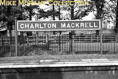 The former GWR running-in board at Charlton Mackrell is depicted here on 17/3/62. [C. L. Caddy / Mike Morant collection]