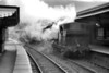 """This shot is dated """"April '62"""" and was likely to have been taken on the last day of passenger services at Aberbeeg which closed on 30/4/62. The steam shrouded locomotive is 86H Aberbeeg allocated Collett 5700 class 0-6-0 pannier tank no. 3664 which had been an 86H resident since November 1960 and would remain there until withdrawal in May 1964 at which date the town was still being served by goods traffic.<br> According to Wikipedia, the line through Aberbeeg has been reactivated and the platforms are still <i>in situ</i> but the station itself remains closed.<br> [<i>Mike Morant collection</i>]"""