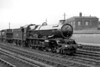 An undated portrait of Collett 'King' class 4-6-0 no. 6025 King Henry III at Swindon. The later BR emblem on the tender dates this to 1957 or later and the presence of the 83D shed code indicates that it's before July 1959 and reallocation to 81A Old Oak Common mpd where withdrawal came in December 1962.<br> [<i>Mike Morant collection</i>]
