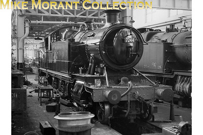 Collett 7200 class 2-8-2T no. 7228 freshly painted inside Swindon Works. [Mike Morant collection]