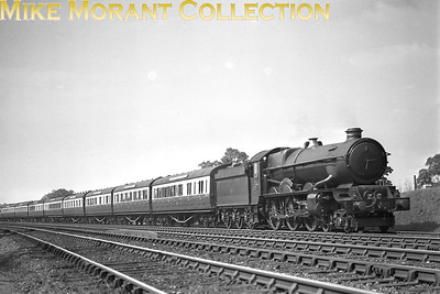 GWR Collett 4-6-0 no. 6027 King Richard I passing Chessets Wood on 2/8/1937. I think that Chessets Wood is in the Bearley area of Birminghgam. [Mike Morant collection]