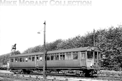 Ex-GWR autocoach no. W198W of 1934 vintage at Uxbridge Vine St. on 1/10/55. [H. C. Casserley / Mike Morant collection]