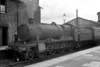 GWR Collett 4-6-0 no. 6846 <i>Ruckley Grange</i> at Salisbury station on 30/6/1939. 6846 was an 82B Bristol St. Philips Marsh engine until withdrawal in September 1964.<br> [<i>Mike Morant collection</i>]