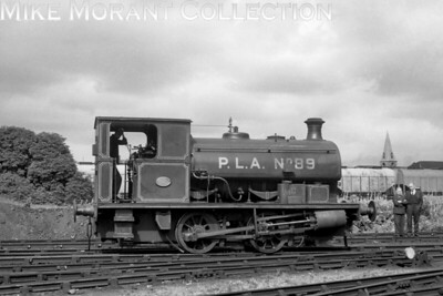 PLA   - Port of London Authority -    0-4-0ST no. 89, Hudswell Clarke 1875/1953, at Millwalll Dock on 16/8/1958. No. 89 was withdrawn in April 1963. [J. E. Bell / Mike Morant collection]