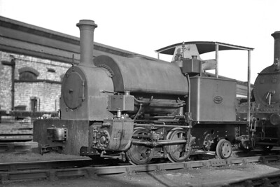 The District Railway owned this quaint Kerr Stuart 'Brazil' type of 0-4-2ST which was numbered 33 in its stock but the number wasn't actually applied to the engine. It was built by KS in 1922 with works no. 4215 and was originally delivered to the London Electric Railway but it isn't known as yet when the District acquired it. This shot was taken by HCC at the District's Lillie Bridge depot on 28/5/1931 and he notes that it was withdrawn circa 1947. [H. C. Casserley / Mike Morant collection]